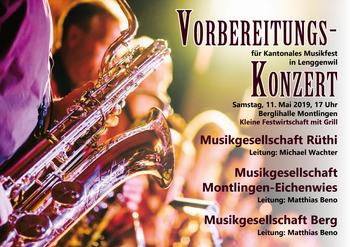 Vorbereitungskonzert 11. Mai 2019 in Montlingen